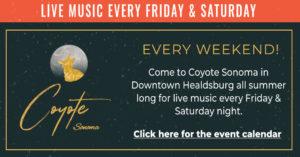 Coyote Sonoma Live Music